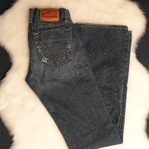 Lucky Brand lightly distressed button fly jeans